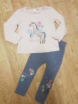 Next Girls Unicorn Outfit Top Leggings Age 3-4 Years