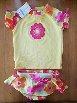NWT Gymboree Swim shop Flower Rash Guard Set Swimsuit UPF 50 Toddler many Sizes