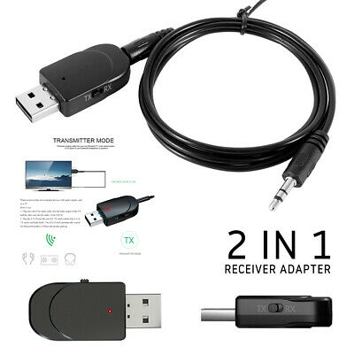2 en1 USB Wireless bluetooth 5.0 Audio Music Transmisor Receptor Adaptador 3.5MM
