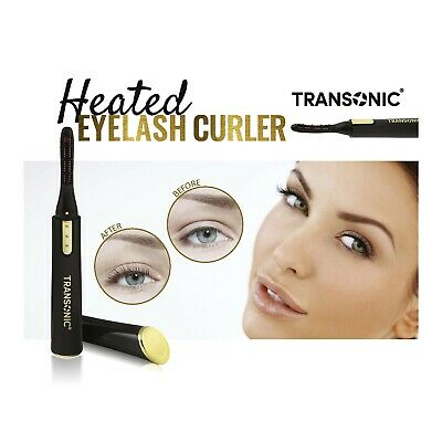 TRANSONIC Electric Eyelash Curler | Portable | Quick | Double Heating | RRP £30