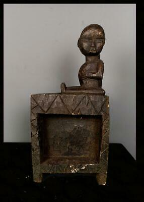 Old Tribal Fang Reliquary Storage Shelf  --  Cameroon