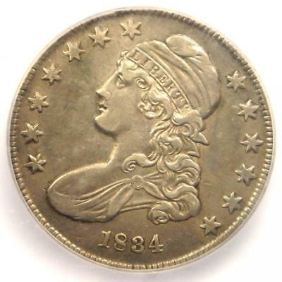 1834 Capped Bust Half Dollar 50C O-114 - Certified ICG AU50 Details - Rare Coin!
