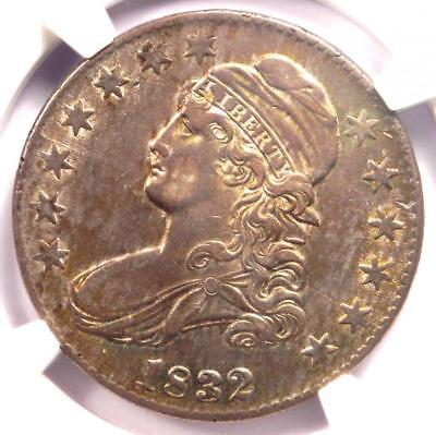 1832 Capped Bust Half Dollar 50C - NGC AU Details - Rare - Nice Luster!