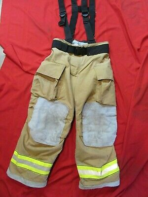 MFG. 2010 GLOBE GXTREME 36 x 28 Firefighter Turnout Bunker Pants SUSPENDERS