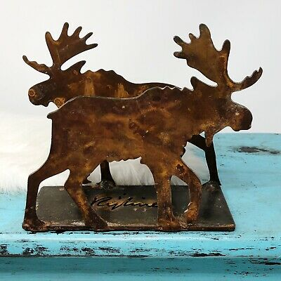 Moose Napkin Holder Rustic Lodge Metal Art Kitchen Cabin Lodge Decor Artisan