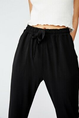 Cotton On Womens O Mili Drapey Pant Jersey Bottoms  In  Black