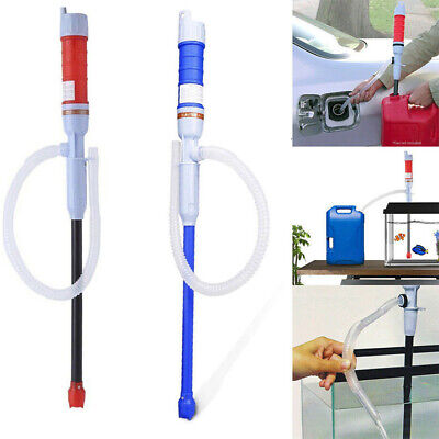 Portable Electric Siphon Oil Water Petrol Liquid-Transfer Pump Pipe Red/Blue