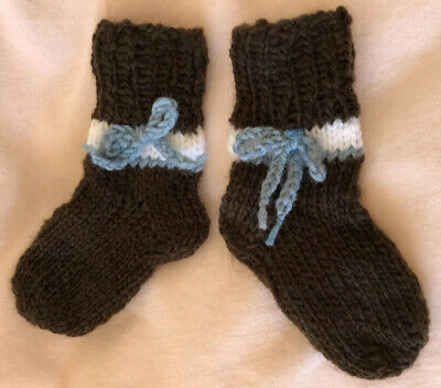 New Childrens Kids Baby Ankle Wool Hand Knitted Bow Stretch Socks 9 Cm