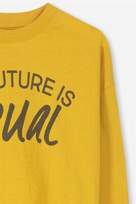 Cotton On Kids Boys Tom Loose Fit Tee L/S Tees  In  Yellow