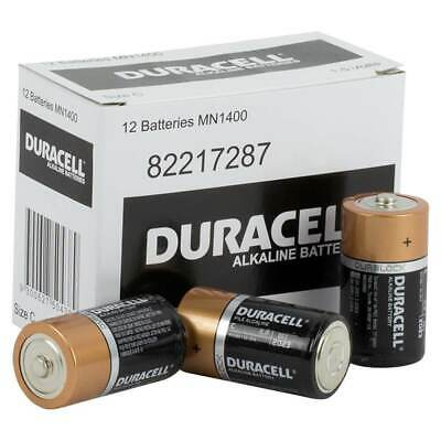 Duracell C cell Alkaline Batteries box of 12