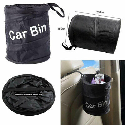 Portable Collapsible Car Trash Can Pop-up Leak Proof Trash Bin Box Hanging Bag