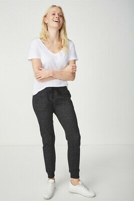 Cotton On Womens Adele Trackpant Jersey Bottoms  In  Black