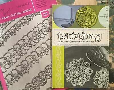 Vintage Two  Paragon &   Coats Books: Crochet, Tatting, Patterns