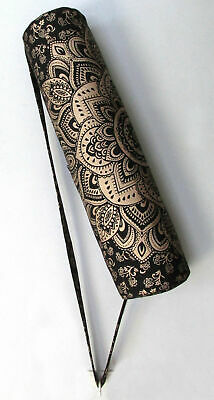 Indian Handmade Cotton Mandala Hippie Ombre Portable Yoga Mat Carry Gym Bag