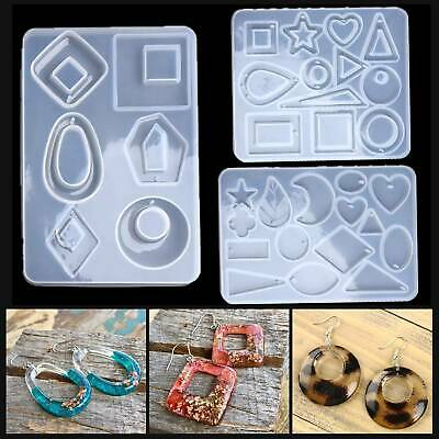 Silicone Earring Pendant Mold Necklace Jewelry Resin Epoxy Mould Casting CraftAU