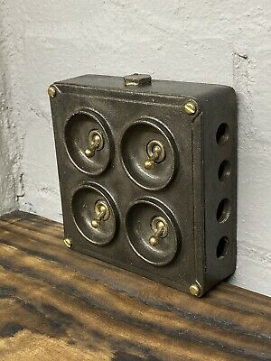 Crabtree Four Gang Vintage Industrial Light Switch Salvaged Reclaimed Retro 4