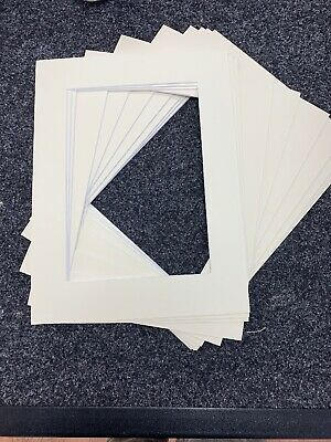"10 x Cream / Ivory Acid Free 30x40cm Picture Mount to fit A4 8""x12"" paper"