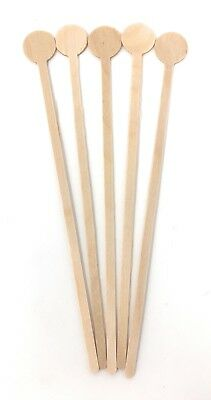 100 x Wooden Disc Stirrers for Drinks (20cm) - Fully Biodegradable & Compostable