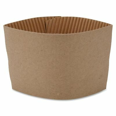 100 x Coffee Clutches Sleeves Kraft Cardboard Suitable for 12oz and 16oz Cups