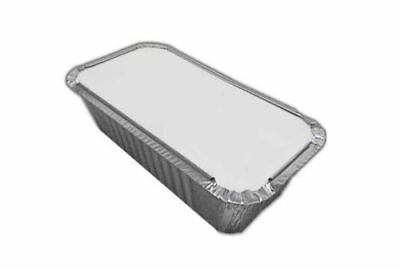 250 No 6a ALUMINIUM FOIL FOOD CONTAINERS + LIDS PERFECT FOR TAKEAWAYS OR HOMES