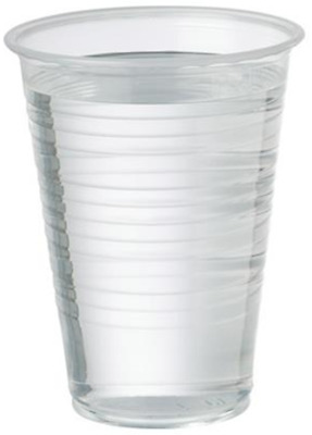 Clear Plastic Disposable Water Cup / Glass for Vending Machines - 7oz / 180ml