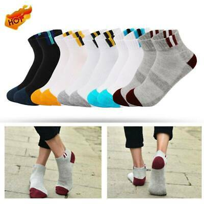 1 Pairs Men Cotton Boat Socks Loafer No Show Low Cut Invisible Nonslip Ankle UK
