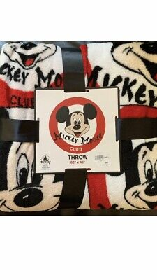 Disney Parks Mickey Mouse Club Fleece Throw Blanket New With Tags. H2