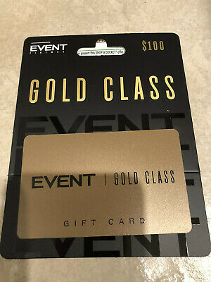Event Gold Class Gift Card $100 Exp Nov 2022