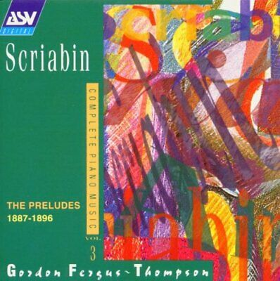 Scriabin/Complete Piano Music - Vol 3 -  CD VEVG The Cheap Fast Free Post The