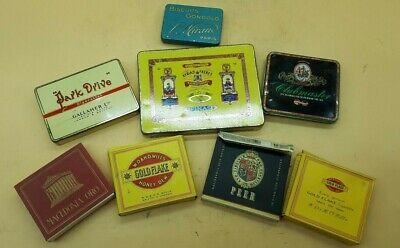 7 Boites A Cigarettes Gold Flake Park Drive Clubmaseter &1 Boite A Buiscuit (B5)