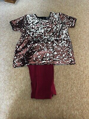 Primark Girls Top and Legging Set Age 12-14 Years