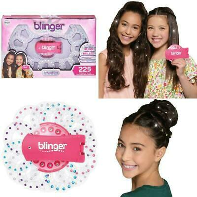 The Hair Blinger Glam Collection Set with 225 Assorted Colored Gems