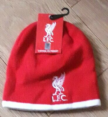 Official Liverpool Fc Junior Wool Hat Lfc Anfield Liver Bird The Pool