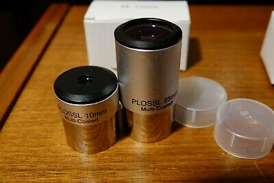 Plossl eyepieces 10mm and 25mm fully coated 1.25 SAVE $5