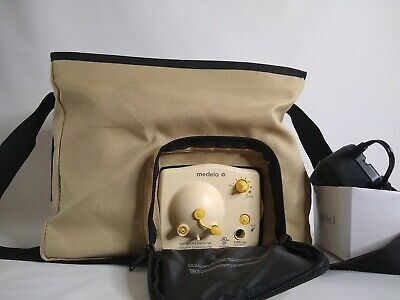 Medela Advanced Personal Double Breast Pump with Tan Tote & Power cord Works