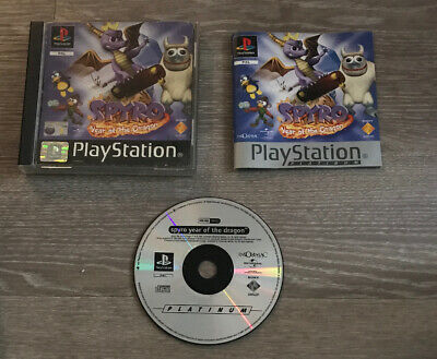 Spyro: Year of the Dragon - Platinum PS1 PlayStation 1 FAST POST P&P UK