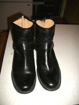 Men's New Without Box Frye Black Chelsea Harness Ankle Boots Zippers 10 D