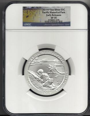 2019 P 25C War in Pacific 5oz Silver ATB Beautiful Specimen NGC SP70 ER