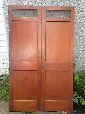 "23""x 75"" Tall Double Victorian Pine Cupboard Doors with top grill. Accept Offers"