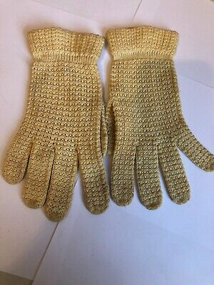 Vintage Cotton Knitted Gloves