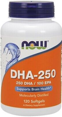 (120g, 15,38 EUR/100g) NOW Foods DHA-250, 250 DHA / 100 EPA - 120 softgels