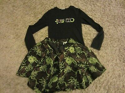 girls  kenzo tiger  t-shirt & skirt  outfits & sets  age 16a