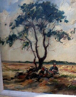 Franz Delaforgue German early 20th century antique Impressionist oil painting