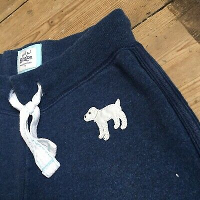 Mini Boden Tracksuit Bottoms Age 7 Years Dog Girls Boys