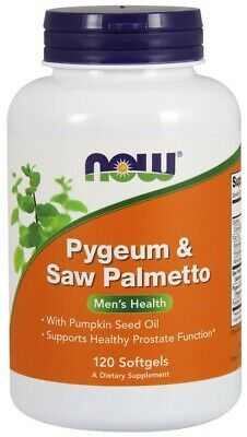 (120g, 24,11 EUR/100g) NOW Foods Pygeum & Saw Palmetto - 120 softgels