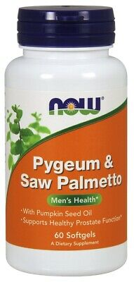 (60g, 27,02 EUR/100g) NOW Foods Pygeum & Saw Palmetto - 60 softgels