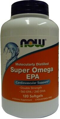 (120g, 17,26 EUR/100g) NOW Foods Super Omega EPA Molecularly Distilled - 120 so