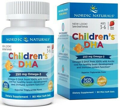 (90g, 20,34 EUR/100g) Nordic Naturals Children's DHA, 250mg Strawberry - 90 sof