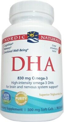 (90g, 34,87 EUR/100g) Nordic Naturals DHA, 830mg Omega 3 (Strawberry) - 90 soft