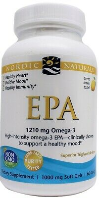 (60g, 53,78 EUR/100g) Nordic Naturals EPA, 1210mg Omega 3 (Lemon) - 60 softgels